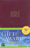 NIV Gift & Award Bible, Burgundy, Leather-Look  Imitation Leather