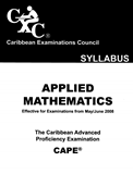 Caribbean Advanced Proficiency Examination Syllabus Applied Mathematic